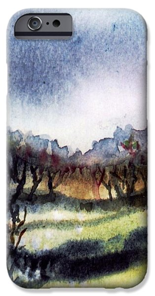 Towards the misty bogland  iPhone Case by Trudi Doyle