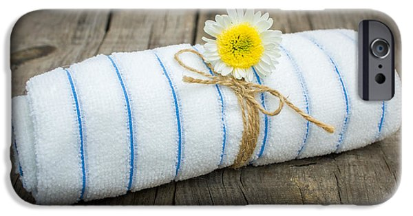 Enjoying iPhone Cases - Towel With a Flower iPhone Case by Aged Pixel