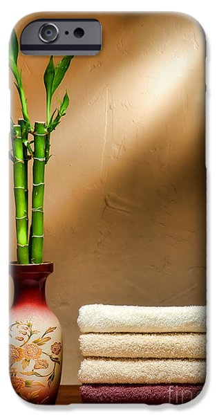 Towels and Bamboo iPhone Case by Olivier Le Queinec