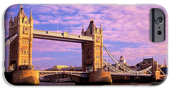 Pastel iPhone Cases - Tower Bridge London England iPhone Case by Panoramic Images