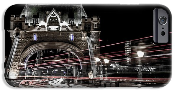 Buildings iPhone Cases - Tower Bridge London iPhone Case by Martin Newman