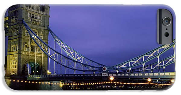 Connection iPhone Cases - Tower Bridge, London, United Kingdom iPhone Case by Panoramic Images