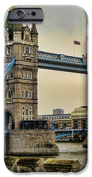 Tower Bridge on the River Thames iPhone Case by Heather Applegate