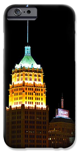 Interior Scene iPhone Cases - Tower Life Building San Antonio iPhone Case by Christine Till