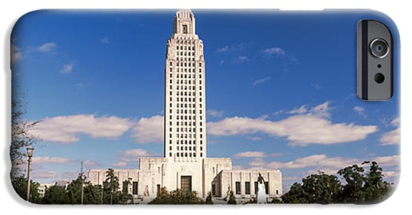 Baton Rouge iPhone Cases - Tower Of A Government Building iPhone Case by Panoramic Images
