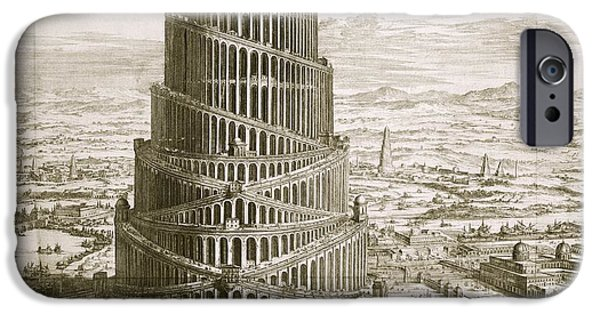 Iraq iPhone Cases - Tower Of Babel, 17th-century Artwork iPhone Case by Asian And Middle Eastern Division