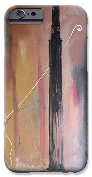 Baghdad Paintings iPhone Cases - Tower of Babel iPhone Case by Gary Smith