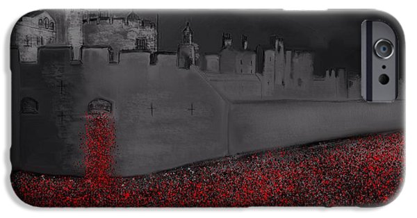 World War One iPhone Cases - Tower of London Blood Swept The Lands iPhone Case by Karen Harding