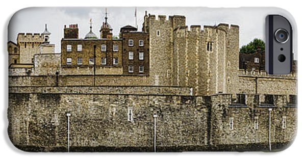 Historic Site iPhone Cases - Tower of London Panorama iPhone Case by Heather Applegate