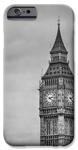 Big Ben iPhone Cases - Tower Of Power iPhone Case by Evelina Kremsdorf