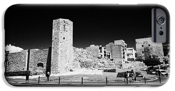 Historic Site iPhone Cases - Tower Of The Nuns On The Roman Circus Ruins Of Tarraco Unesco World Heritage Site Tarragona Cataloni iPhone Case by Joe Fox
