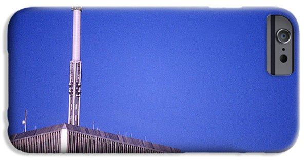 Twin Towers Nyc iPhone Cases - Tower One iPhone Case by Jon Neidert