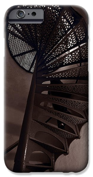 Little Photographs iPhone Cases - Tower Stairs iPhone Case by Steve Gadomski