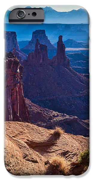 Vistas iPhone Cases - Tower Sunrise iPhone Case by Chad Dutson