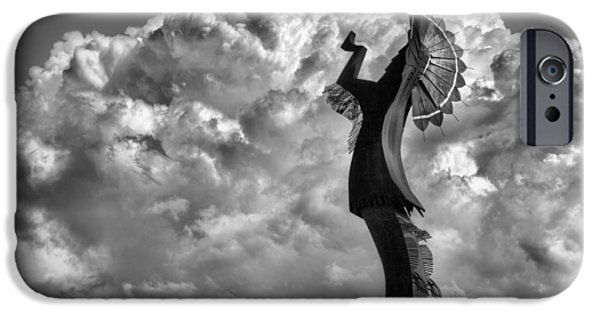 Arkansas iPhone Cases - Towering over Wichita BW iPhone Case by JC Findley