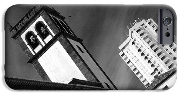 Skewed iPhone Cases - Towers iPhone Case by Gaspar Avila