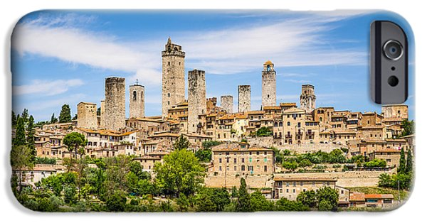 Recently Sold -  - Historic Site iPhone Cases - Towers of San Gimignano iPhone Case by JR Photography