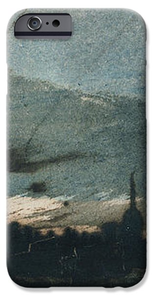 Town at Dusk iPhone Case by Victor Hugo