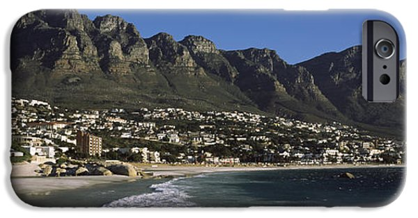 Cape Town iPhone Cases - Town At The Coast With A Mountain Range iPhone Case by Panoramic Images