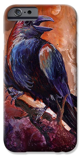 Crows iPhone Cases - Town Gossip iPhone Case by Sherry Shipley
