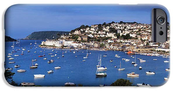 United iPhone Cases - Town On An Island, Salcombe, South iPhone Case by Panoramic Images