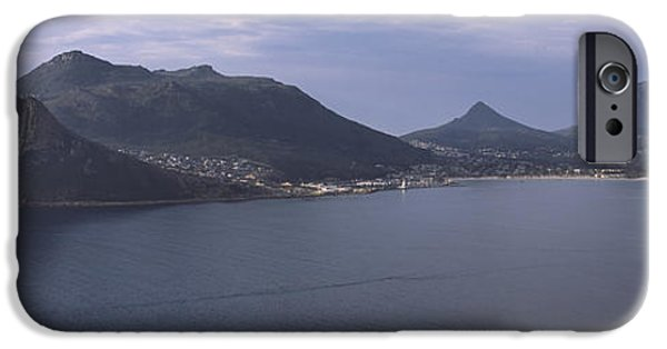 Cape Town iPhone Cases - Town Surrounded By Mountains, Hout Bay iPhone Case by Panoramic Images