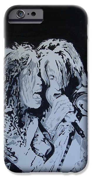 Steven Tyler Paintings iPhone Cases - Toxic Again iPhone Case by Stuart Engel