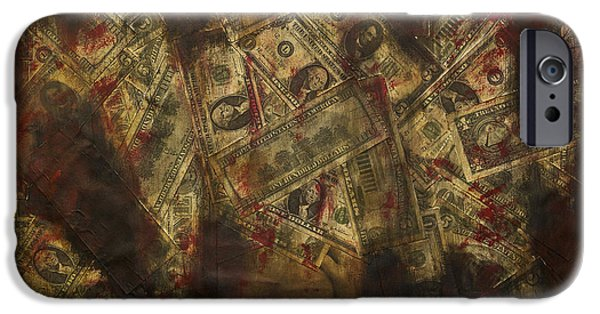 Us Capital Mixed Media iPhone Cases - Toxic Greed iPhone Case by Kamil Swiatek