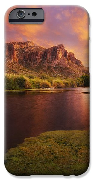 Peter James Nature Photography iPhone Cases - Toxic Sunset iPhone Case by Peter Coskun