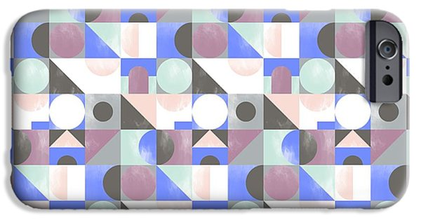 Patterns Paintings iPhone Cases - Toy Blocks small iPhone Case by Laurence Lavallee