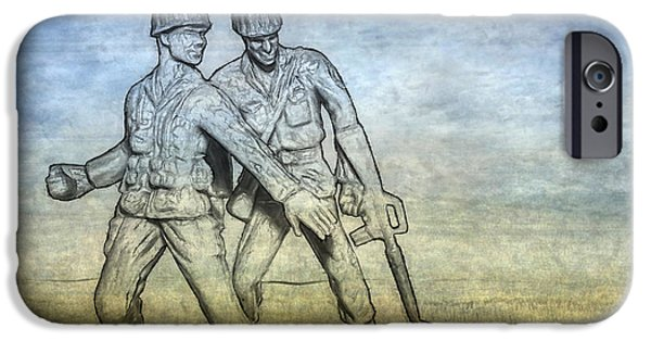 Fury iPhone Cases - Toy Soldiers Battle Fury iPhone Case by Randy Steele