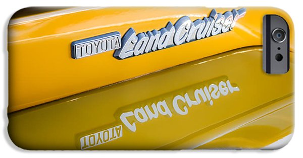 Cruiser iPhone Cases - Toyota Land Cruiser Emblem  iPhone Case by Jill Reger