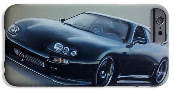 Concept Pastels iPhone Cases - Toyota Supra iPhone Case by Gea Scheltinga