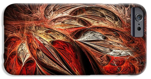 Connection iPhone Cases - Traces of Flame iPhone Case by Anastasiya Malakhova