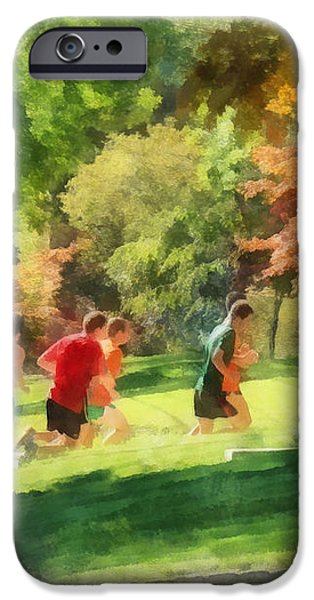Track Team iPhone Case by Susan Savad