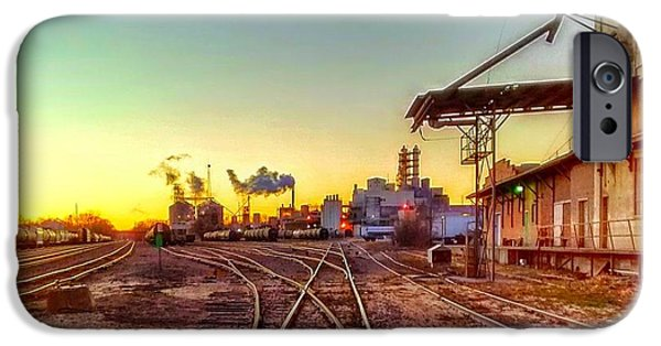Feed Mill Photographs iPhone Cases - Tracks To Feed Mill iPhone Case by D Baker Soph