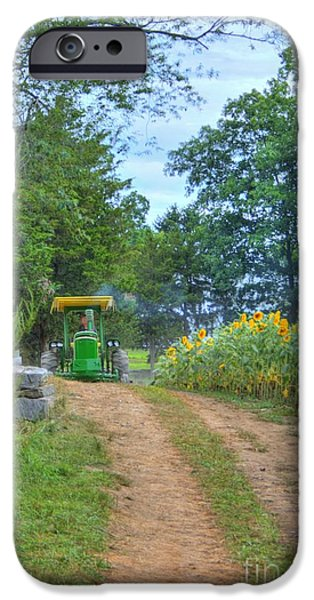 Buttonwood Farm iPhone Cases - Tractor Coming iPhone Case by Marcel  J Goetz  Sr