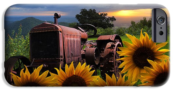 Tennessee Farm iPhone Cases - Tractor Heaven iPhone Case by Debra and Dave Vanderlaan