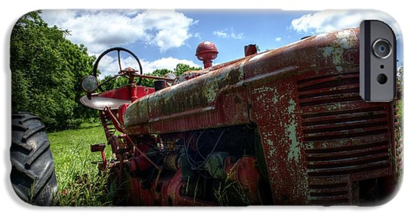 Barnstormer Photographs iPhone Cases - Tractor iPhone Case by Jason Barr