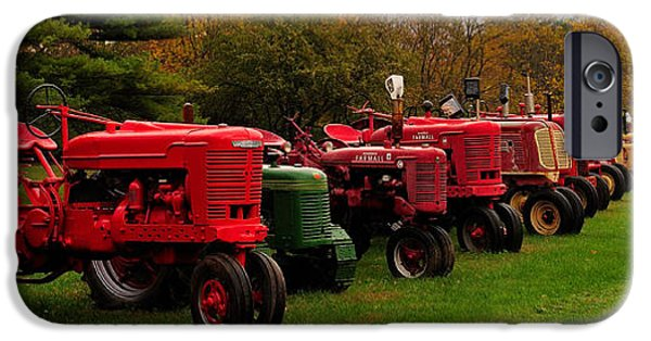 Machinery iPhone Cases - Tractor Lineup iPhone Case by Don Dennis