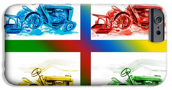 Machinery Mixed Media iPhone Cases - Tractor Mania II iPhone Case by Kip DeVore
