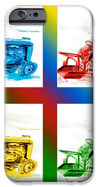 Tractor Mania II iPhone Case by Kip DeVore