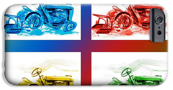 Machinery Mixed Media iPhone Cases - Tractor Mania III iPhone Case by Kip DeVore