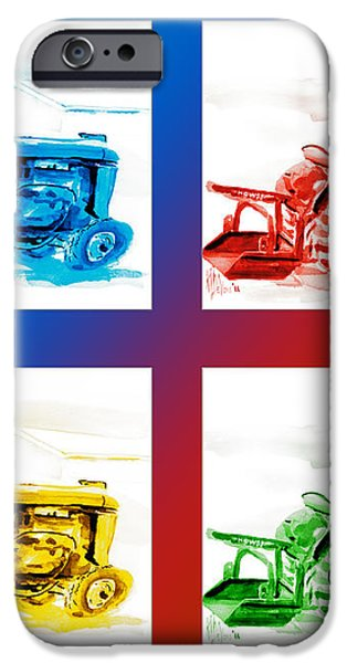 Tractor Mania III iPhone Case by Kip DeVore
