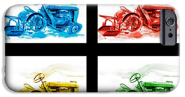 Machinery Mixed Media iPhone Cases - Tractor Mania IV iPhone Case by Kip DeVore