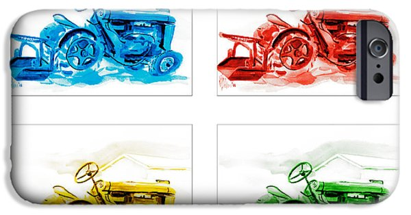 Machinery Mixed Media iPhone Cases - Tractor Mania  iPhone Case by Kip DeVore