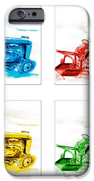 Tractor Mania  iPhone Case by Kip DeVore