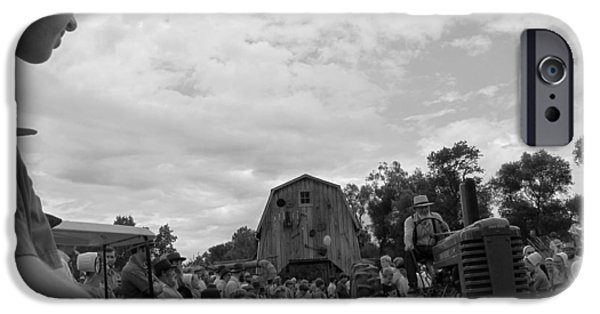 Amish Community Photographs iPhone Cases - Tractor Pull iPhone Case by Tina M Wenger