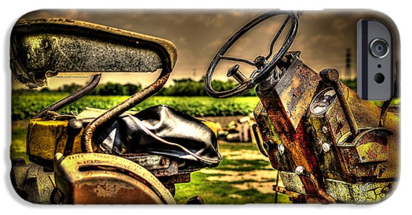 Grass iPhone Cases - Tractor Seat iPhone Case by David Morefield