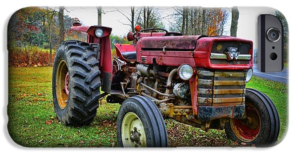 Harvest Time iPhone Cases - Tractor - The Farmers Car iPhone Case by Paul Ward